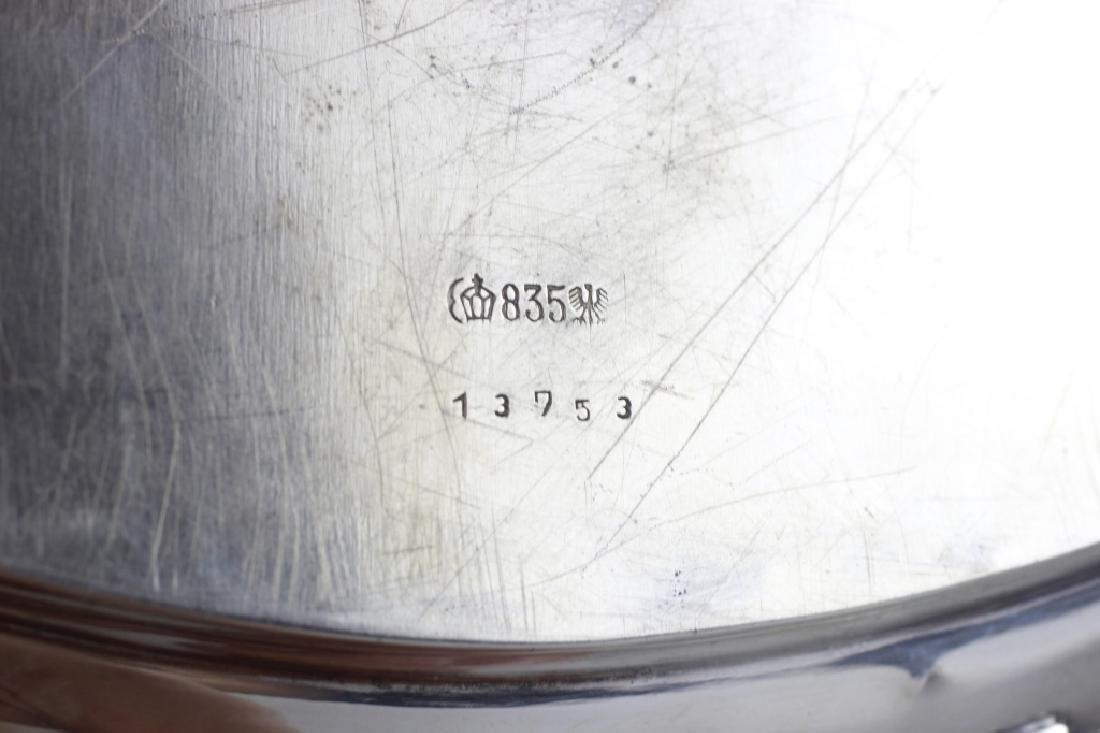 3pc French Silver Art Deco Tea Set w/ Wood Handles - 4