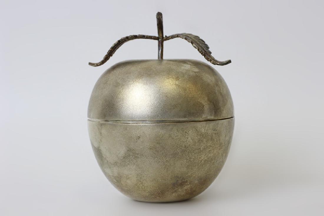 Unusual English Sterling Silver Apple Shape Box