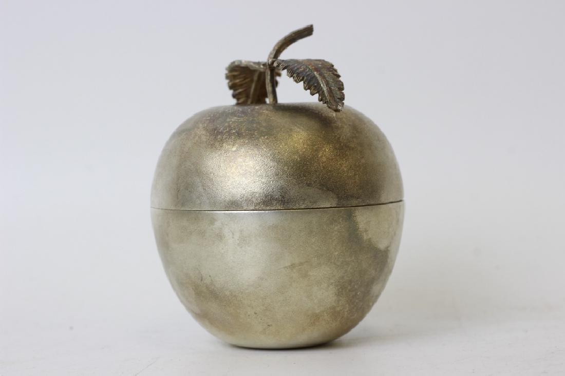 Unusual English Sterling Silver Apple Shape Box - 5