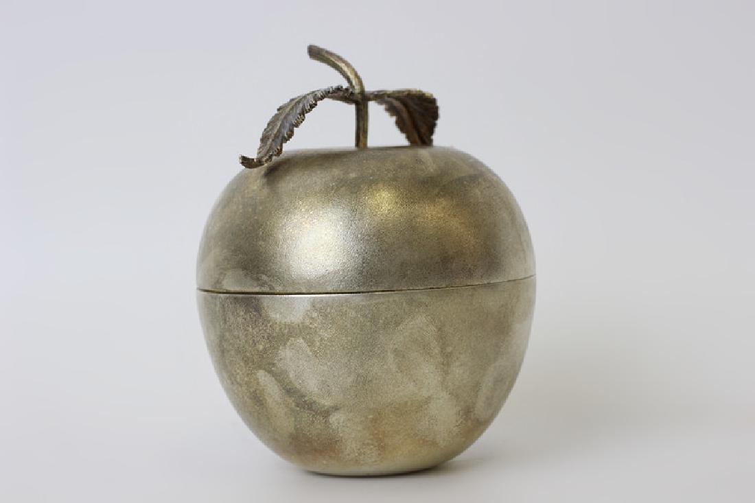 Unusual English Sterling Silver Apple Shape Box - 6