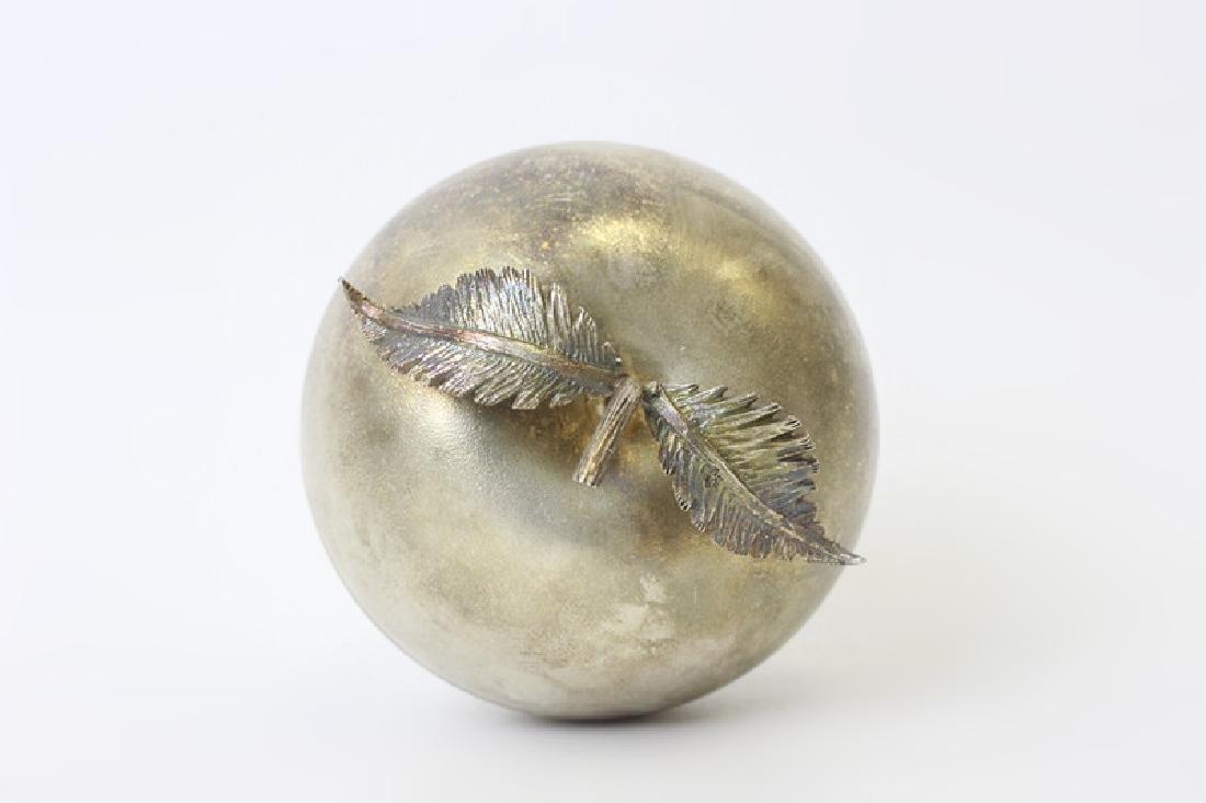 Unusual English Sterling Silver Apple Shape Box - 8