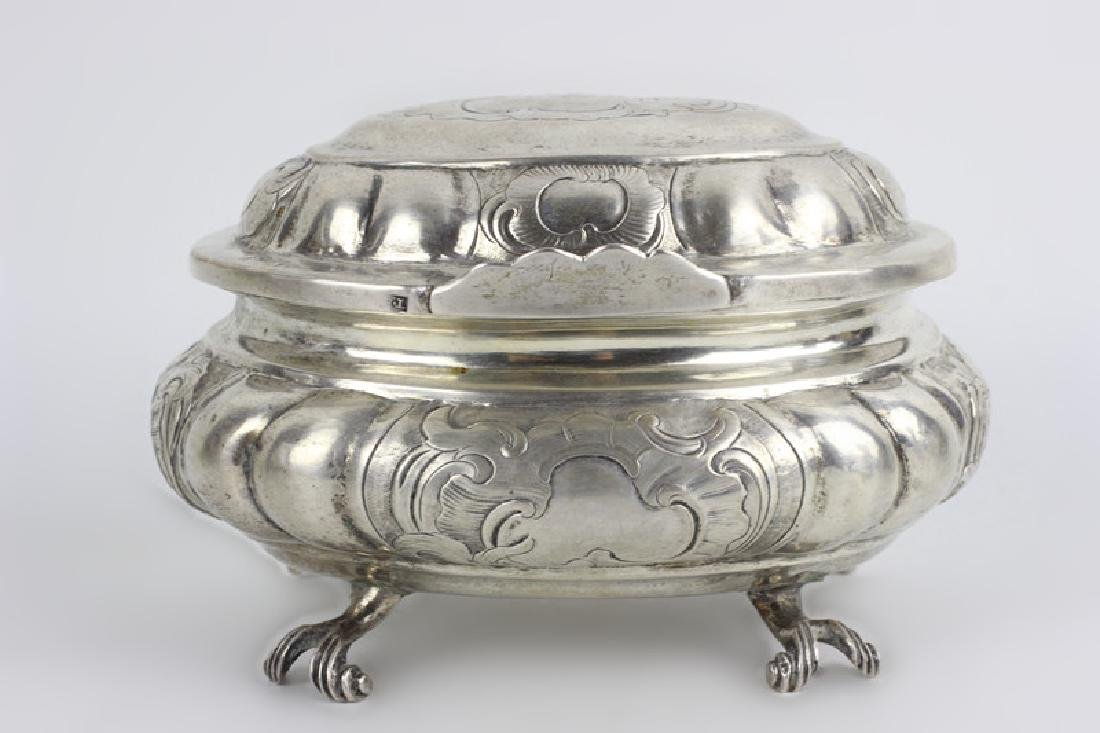 18thc Russian Silver Footed Box