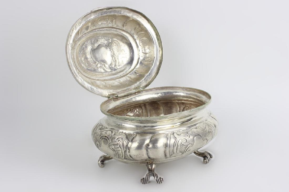 18thc Russian Silver Footed Box - 2