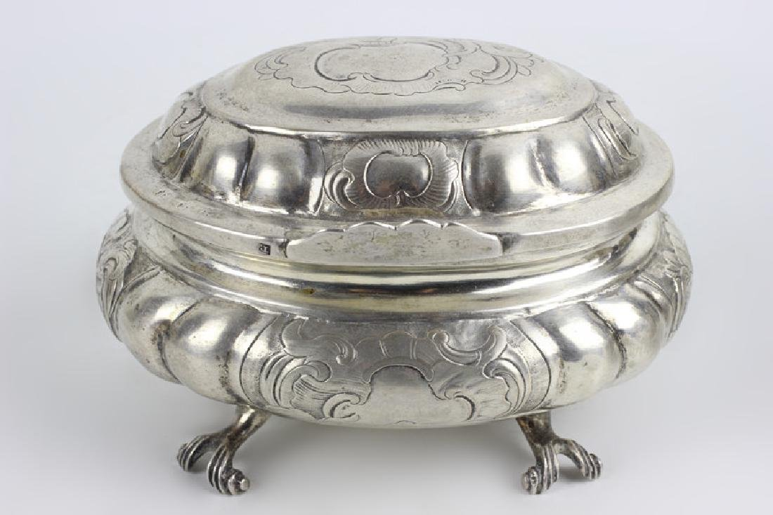18thc Russian Silver Footed Box - 5