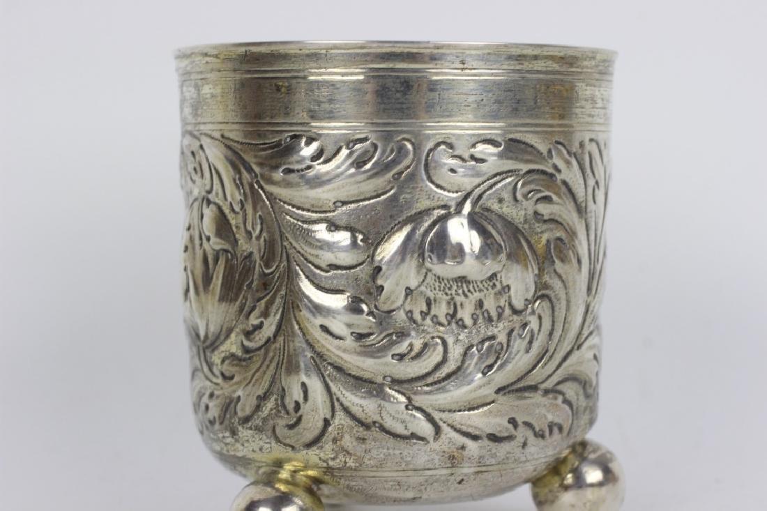 17thc German Nuremberg Silver Footed Cup - 2