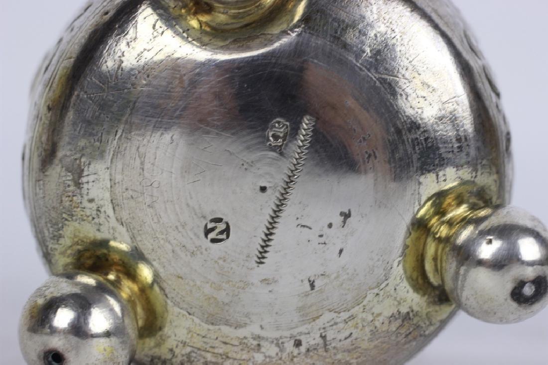 17thc German Nuremberg Silver Footed Cup - 4