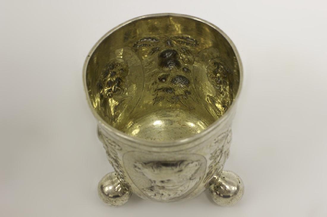18thc Large German Nuremberg Silver Footed Cup - 10