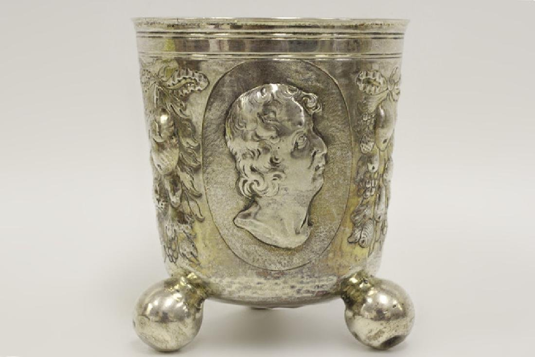 18thc Large German Nuremberg Silver Footed Cup