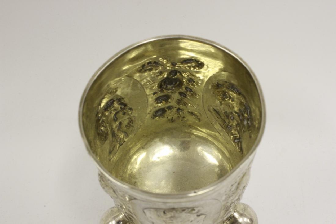 18thc Large German Nuremberg Silver Footed Cup - 7
