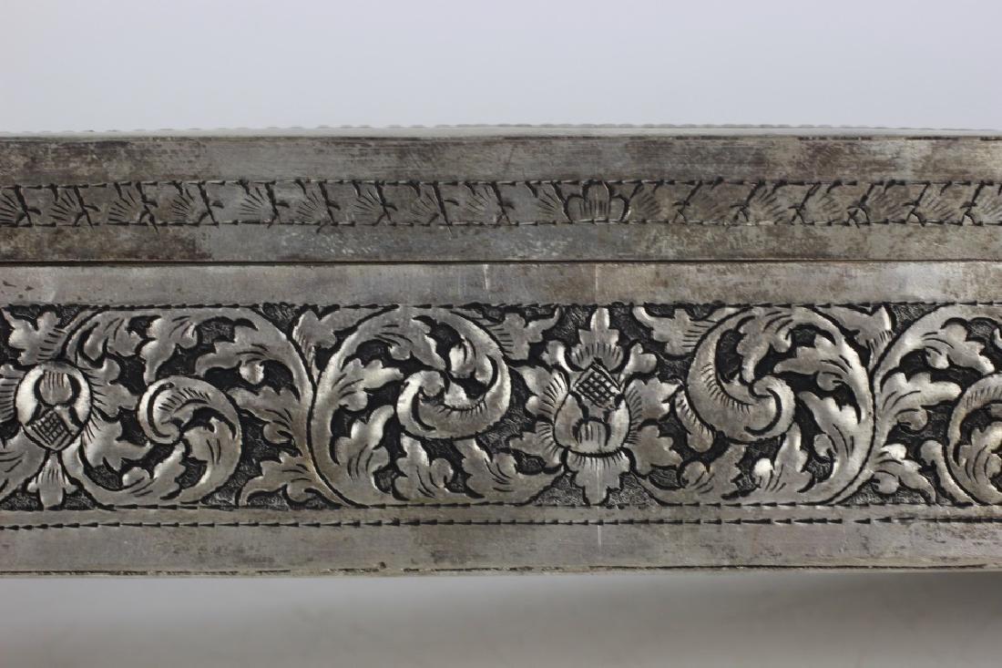 Asian Rectangular Metal Box - 10