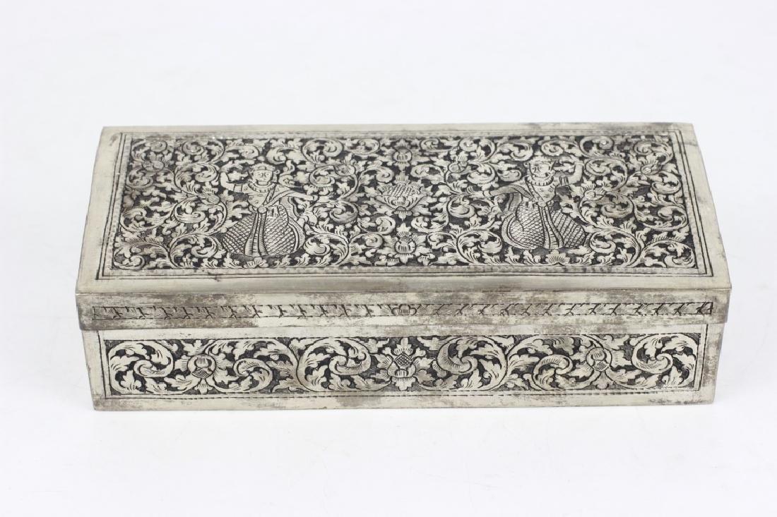 Asian Rectangular Metal Box