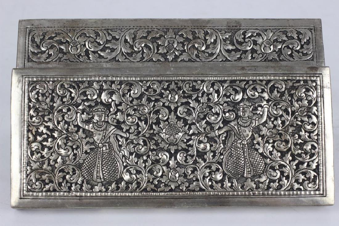 Asian Rectangular Metal Box - 2
