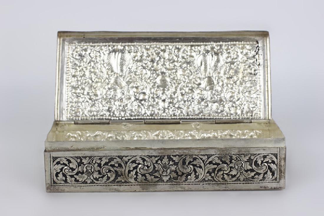 Asian Rectangular Metal Box - 5