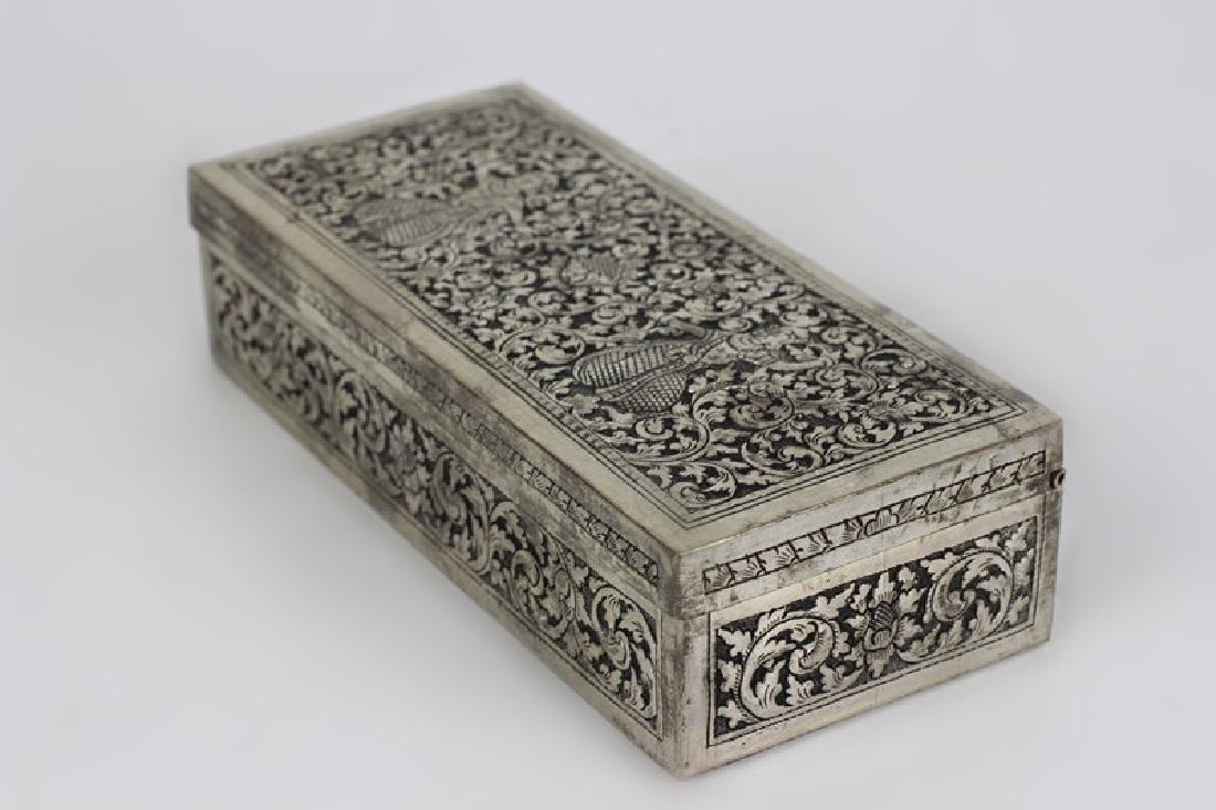 Asian Rectangular Metal Box - 6
