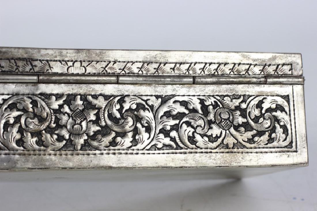 Asian Rectangular Metal Box - 8
