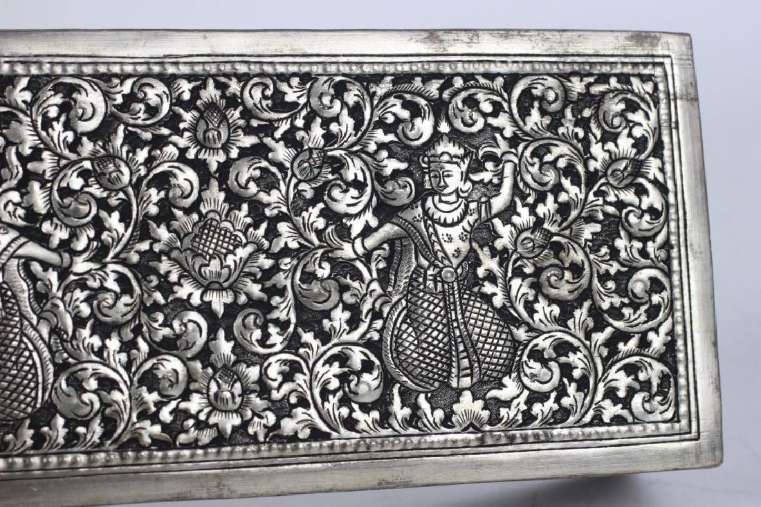 Asian Rectangular Metal Box - 9