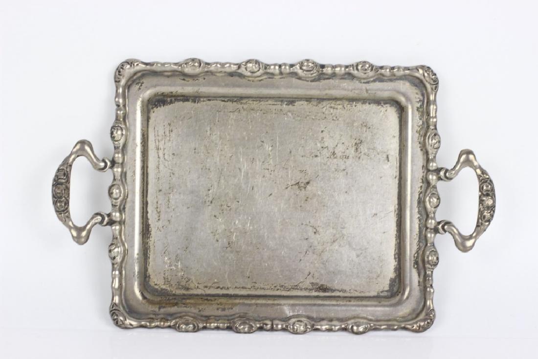 Sterling Silver Miniature Tea & Coffee Set w/ Tray - 10