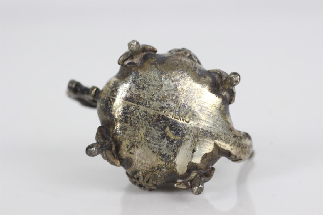 Sterling Silver Miniature Tea & Coffee Set w/ Tray - 9