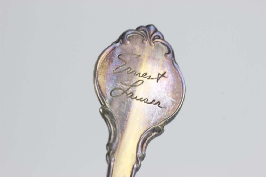 Set of Zodiac Sterling Silver Spoons - 4