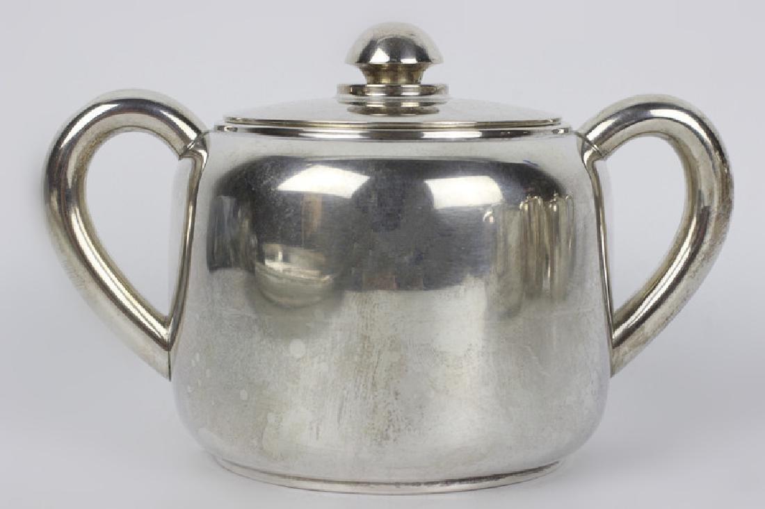 5pc Art Deco Portuguese Silver Coffee & Tea Set - 5