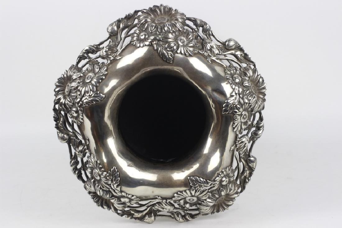Large Art Nouveau Sterling Silver Vase - 6