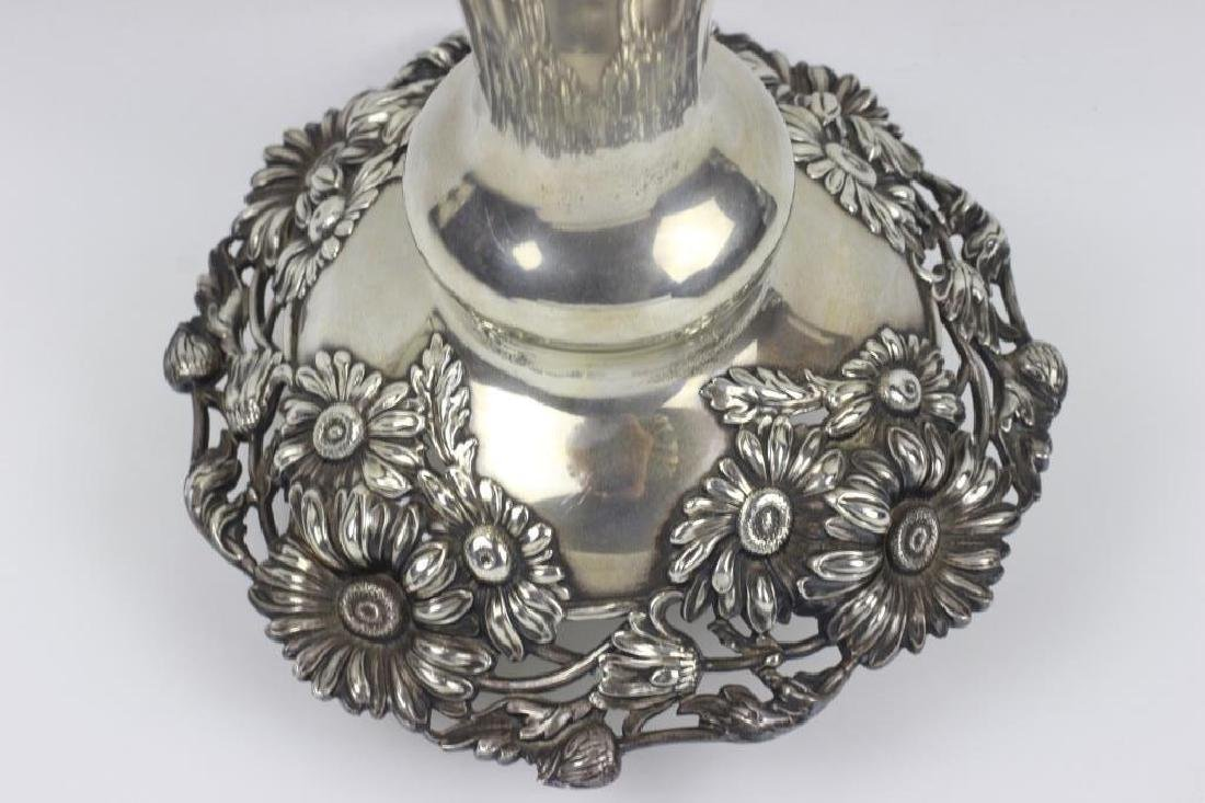 Large Art Nouveau Sterling Silver Vase - 7