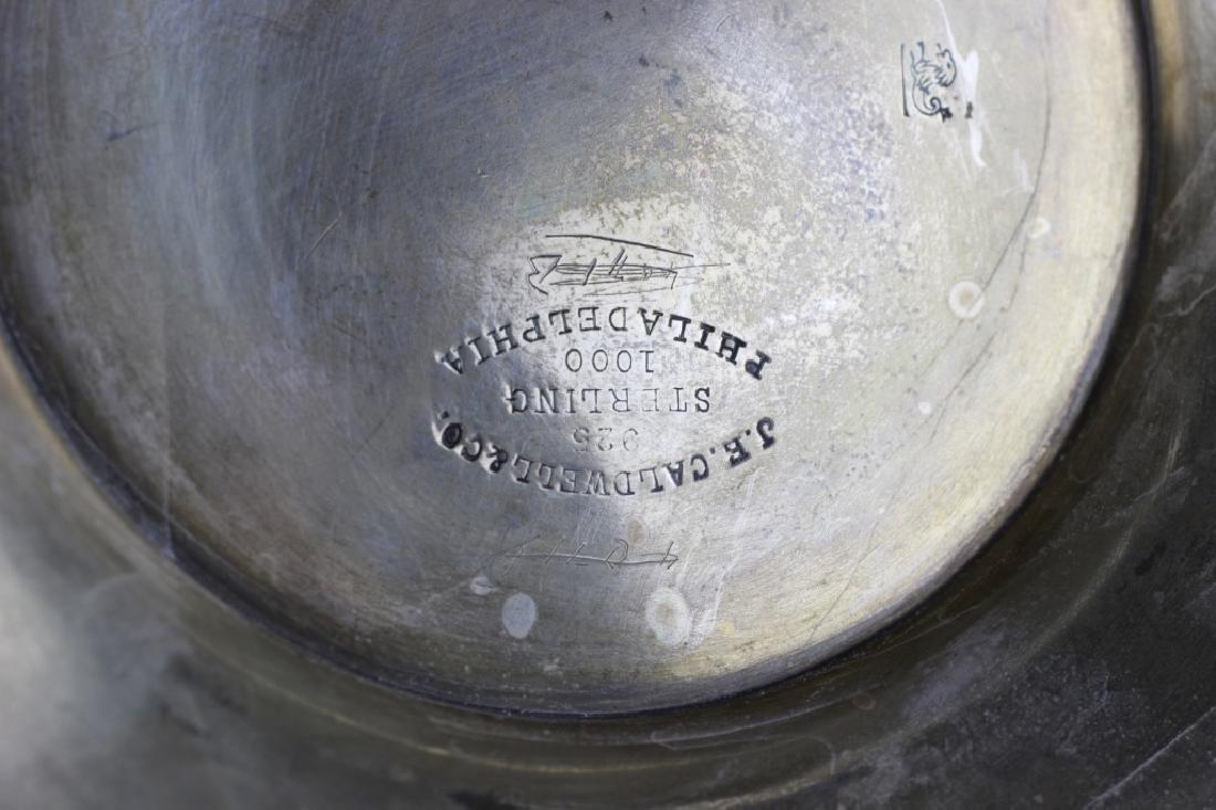 Large Art Nouveau Sterling Silver Vase - 8