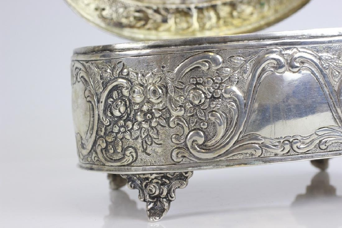Early 800 German Silver Judaica Etrog Box - 7