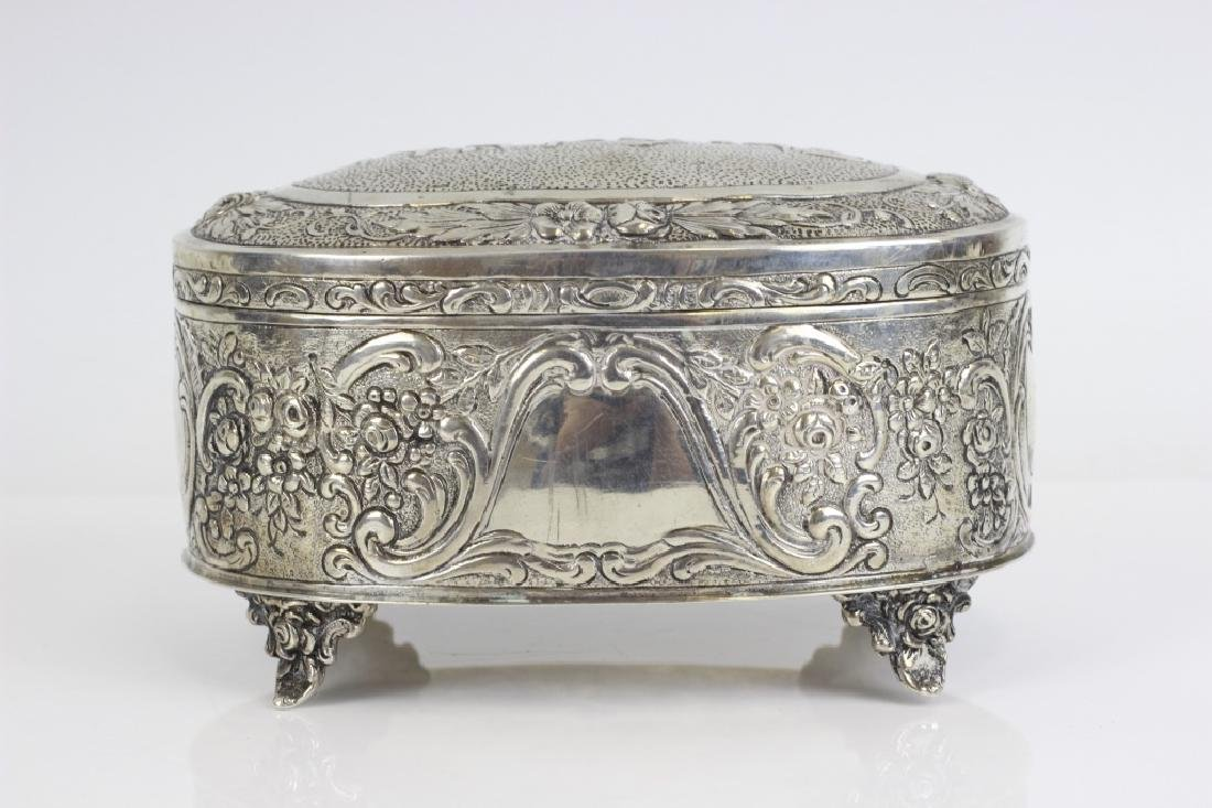 Early 800 German Silver Judaica Etrog Box - 9