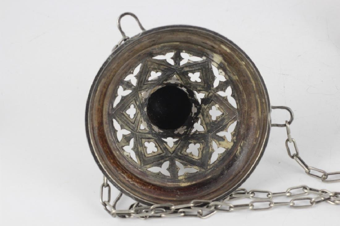Unusual Continental Silver Hanging Light - 3