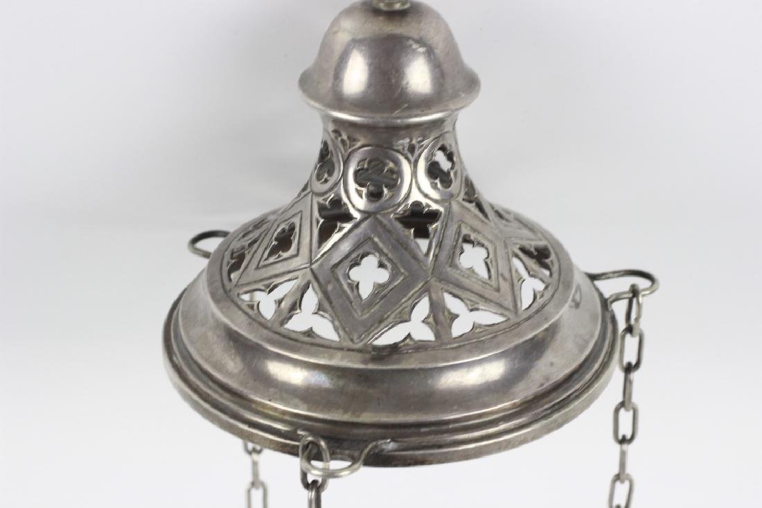 Unusual Continental Silver Hanging Light - 6