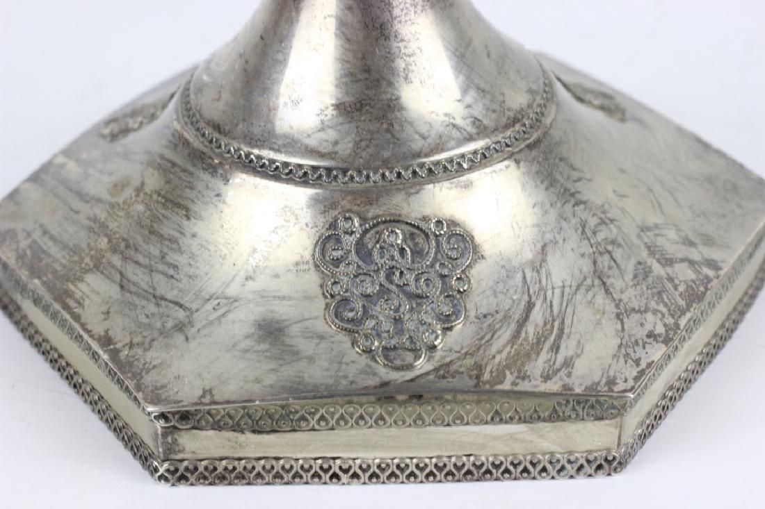 Judaica Sterling Silver Menorah, Signed S. Nadav - 4