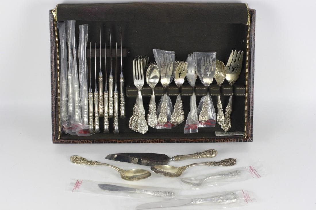 55pc Francis 1st Sterling Silver Flatware Set