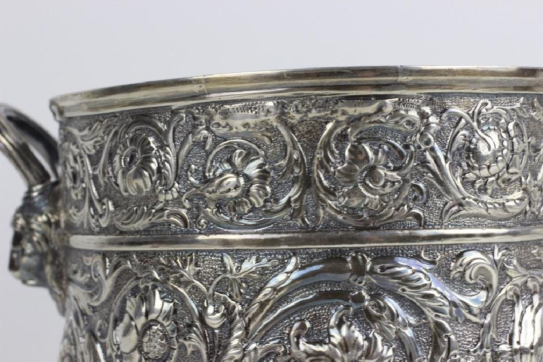 Paul Starr English Silver Footed Cooler Hallmarked - 10