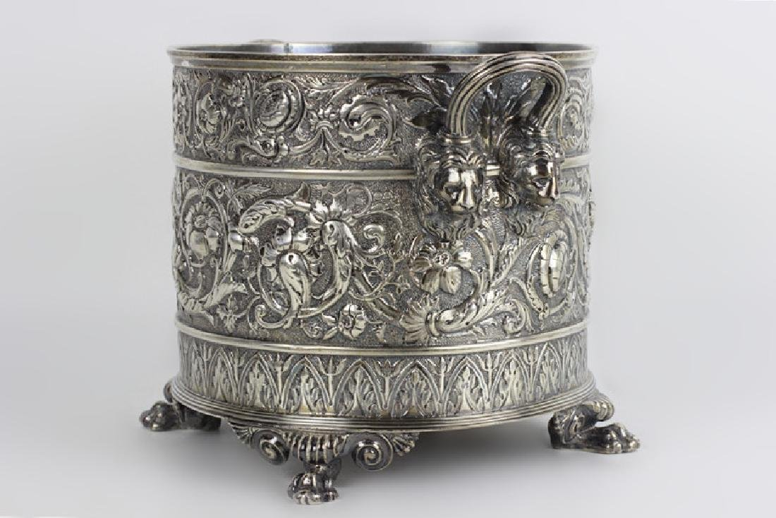 Paul Starr English Silver Footed Cooler Hallmarked - 2
