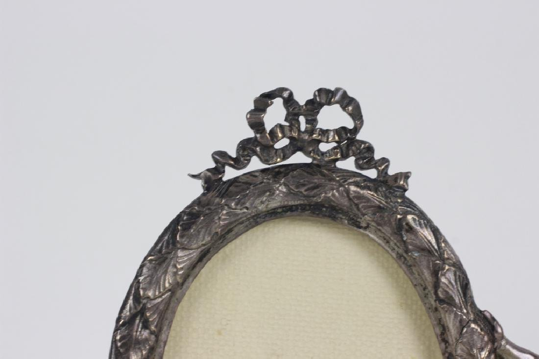 19thc Sterling Silver Cupid 2 Picture Frame - 3