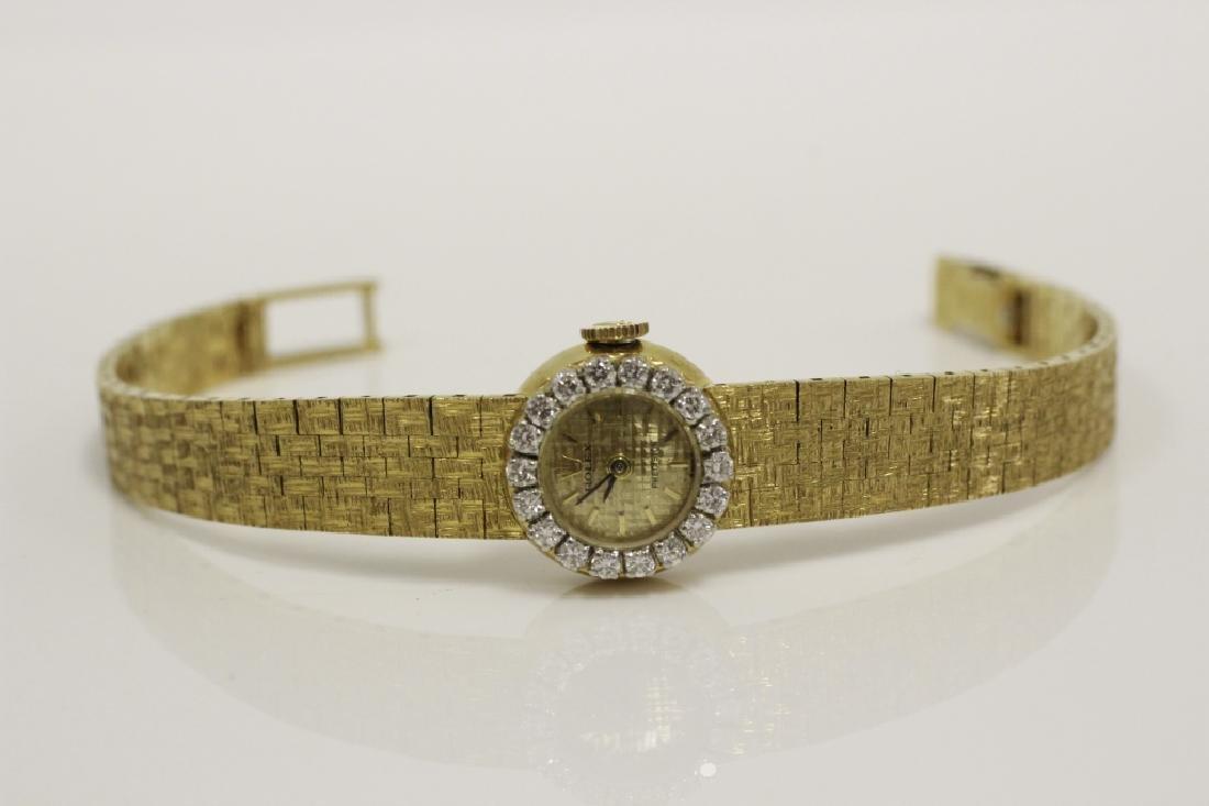 Rolex Vintage 18k Gold & Diamond Ladies Watch