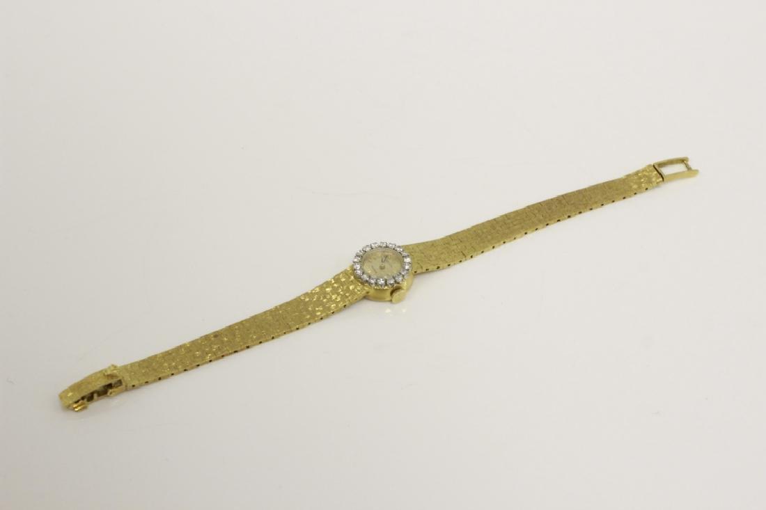 Rolex Vintage 18k Gold & Diamond Ladies Watch - 2