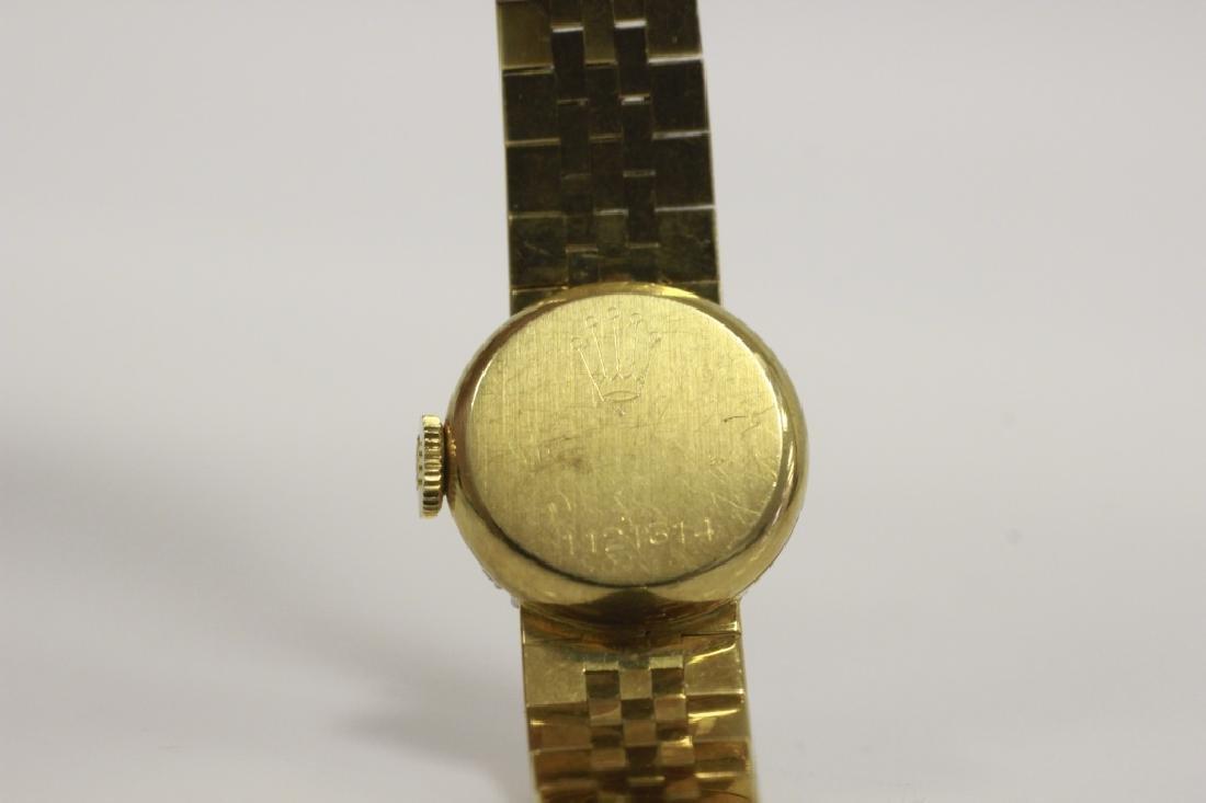 Rolex Vintage 18k Gold & Diamond Ladies Watch - 4