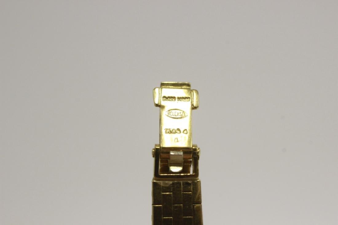 Rolex Vintage 18k Gold & Diamond Ladies Watch - 6