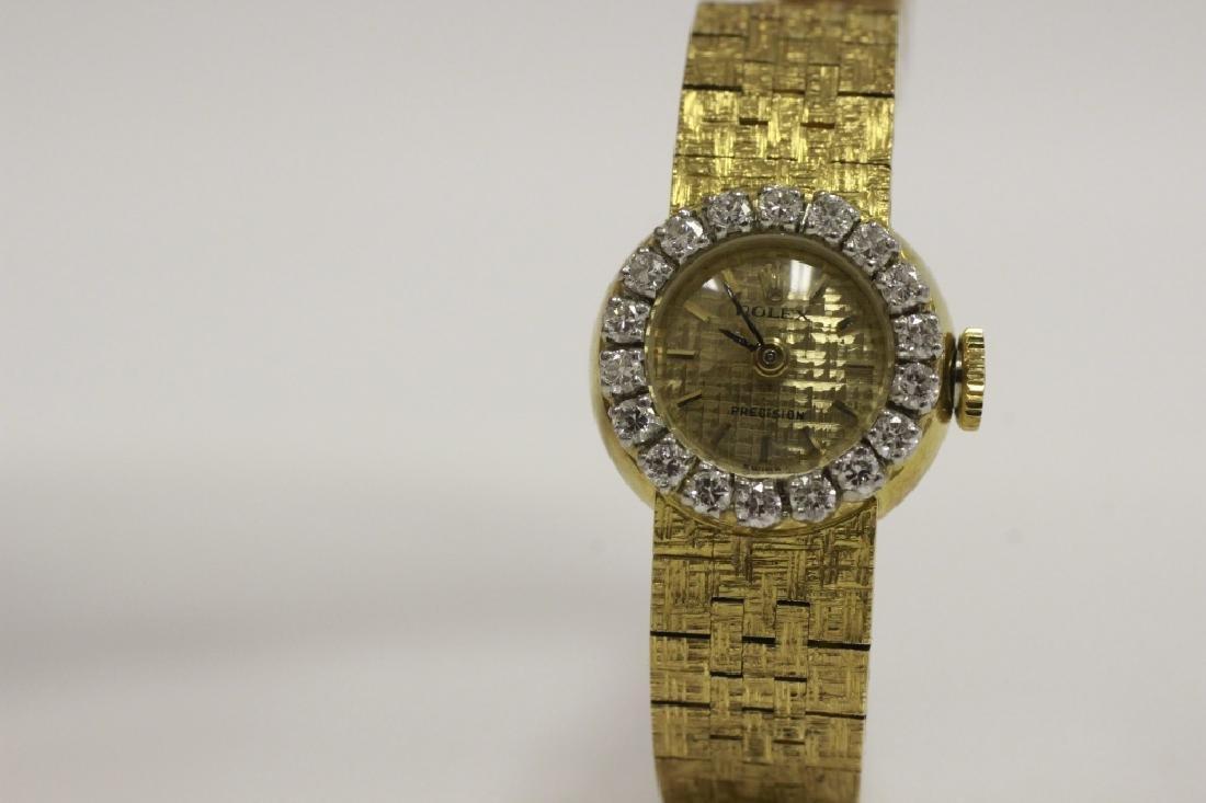 Rolex Vintage 18k Gold & Diamond Ladies Watch - 7