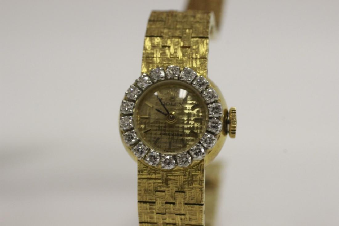 Rolex Vintage 18k Gold & Diamond Ladies Watch - 8
