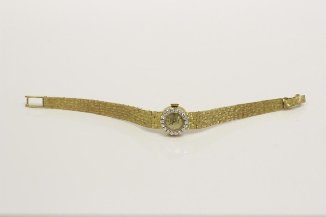 Rolex Vintage 18k Gold & Diamond Ladies Watch - 9