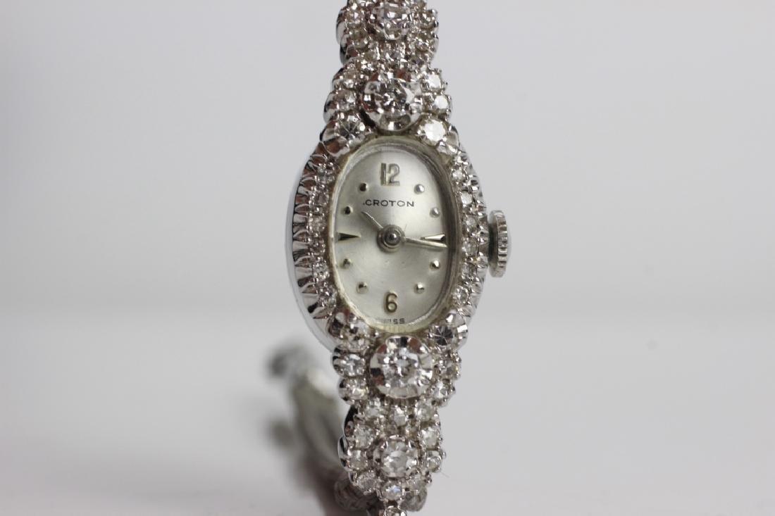 Vintage Croton 14k Gold & Diamond Ladies Watch