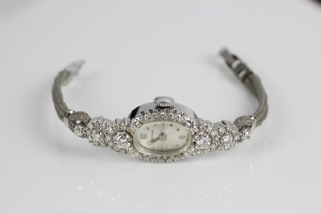 Vintage Croton 14k Gold & Diamond Ladies Watch - 2