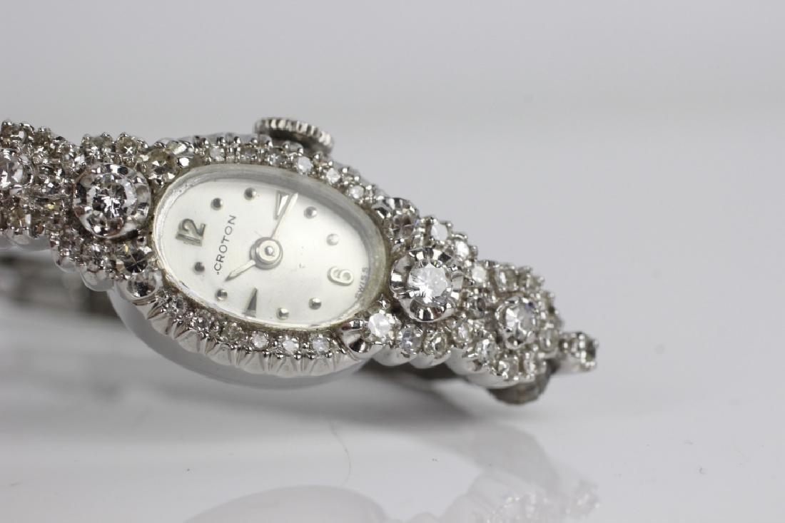 Vintage Croton 14k Gold & Diamond Ladies Watch - 4