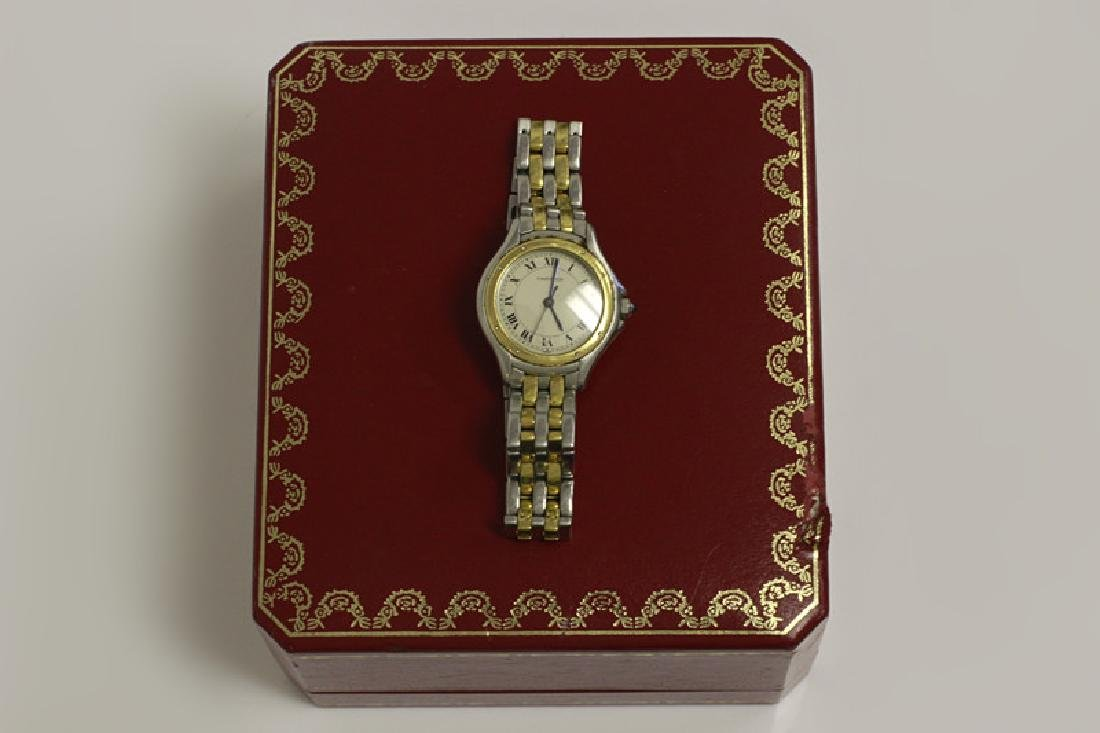 Cartier Ladies Panthere Cougar S/S & Gold Watch
