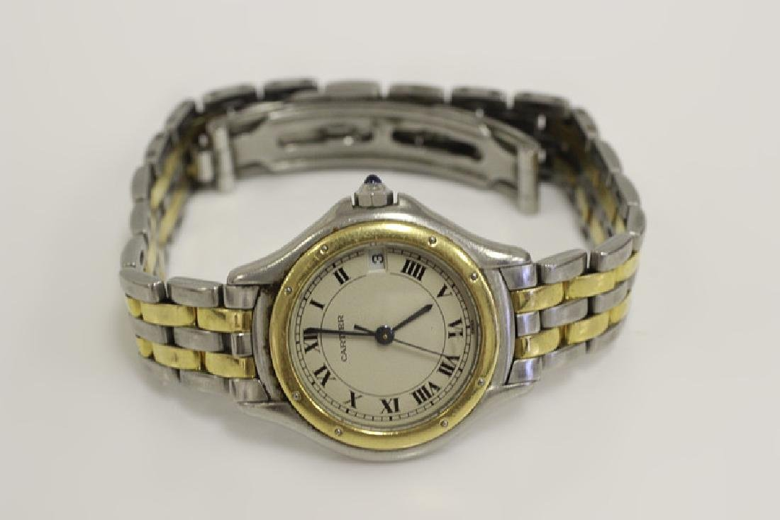 Cartier Ladies Panthere Cougar S/S & Gold Watch - 2