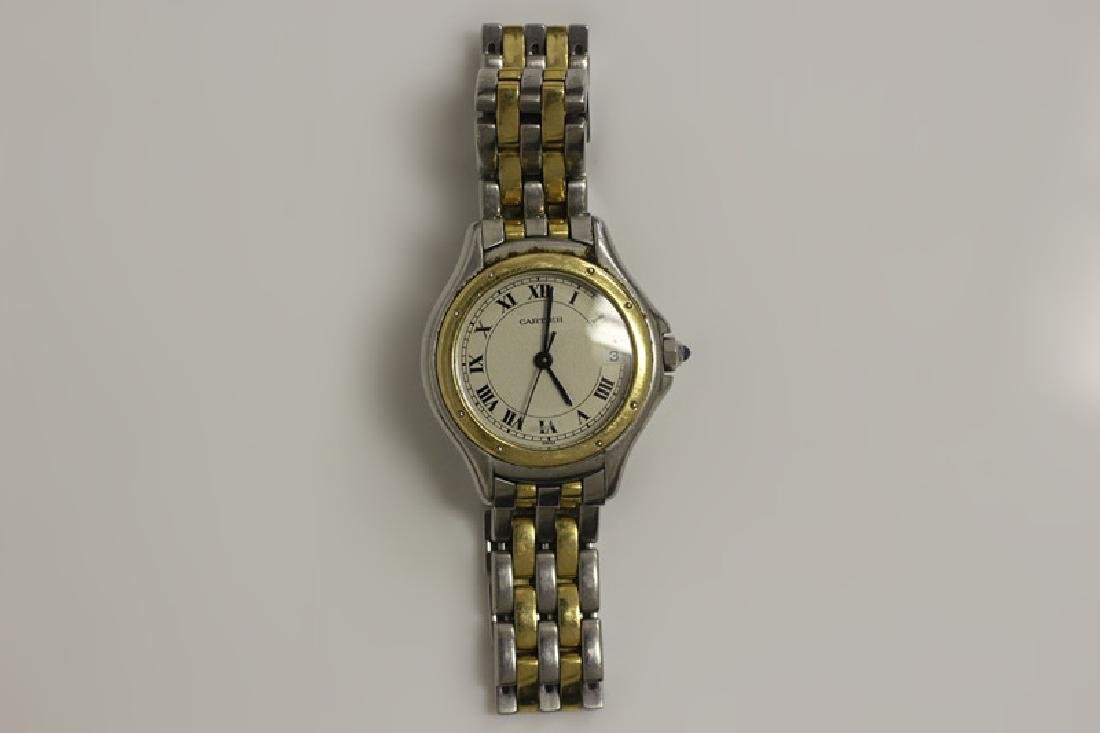 Cartier Ladies Panthere Cougar S/S & Gold Watch - 3