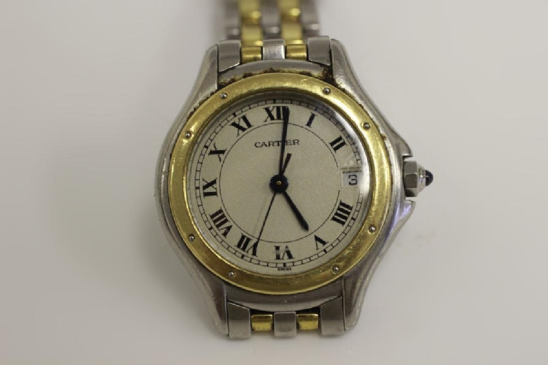 Cartier Ladies Panthere Cougar S/S & Gold Watch - 6